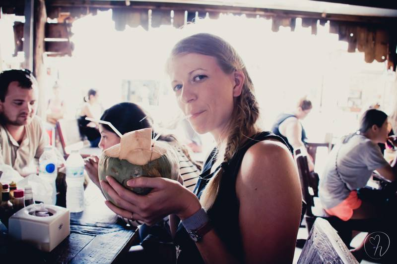Missie with coconut