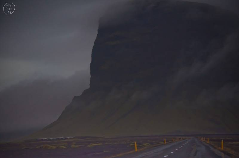 cliff with road